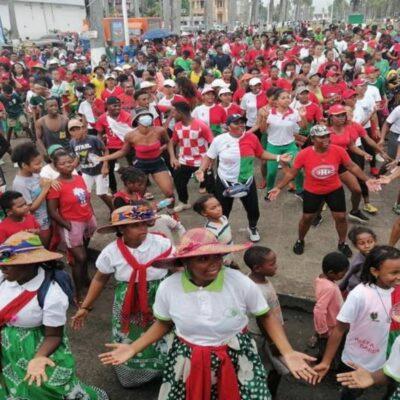 Accueil chaleureux des Barea à Toamasina