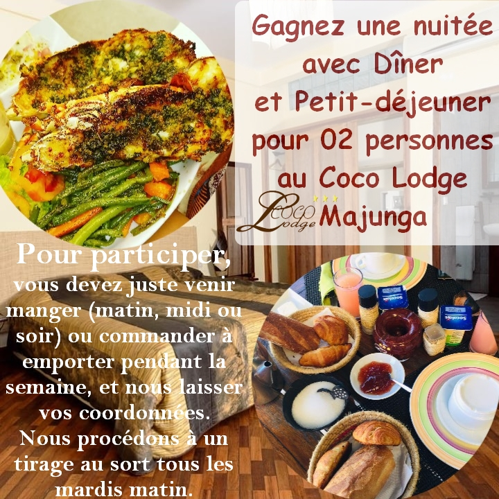 Promotions spéciales au Coco Lodge Majunga